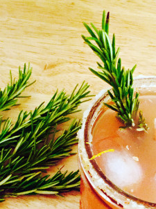 Rosemary Greyhound recipe with rokz lemon infused cocktail sugar