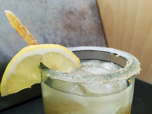rokz bee's knees cocktail with ginger cardamom infused gin