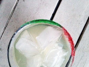 rokz margarita recipe - tequila infused with rokz Ginger Cardamom Infusion kit and colorful lime margarita salts