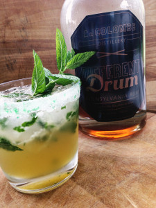 A mojito cocktail made with LaColombe Different Drum rum