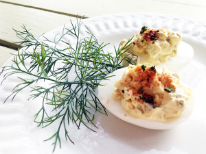 rokz Bloody Mary Deviled Eggs