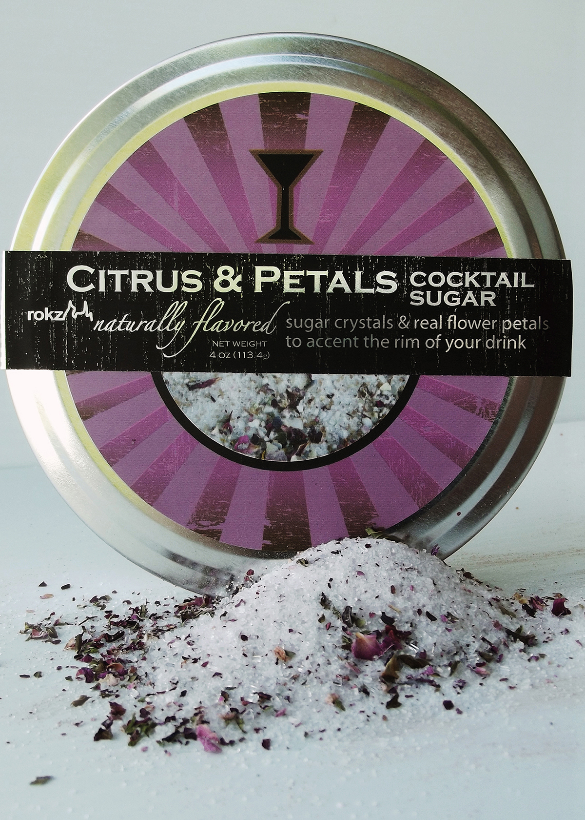 rokz Citrus Petals Cocktail Sugar